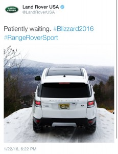 Range Rover #2016 Tweet